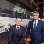 CEO Van Nuland en CFO Sparreboom (Aon): Integreren en verdubbelen